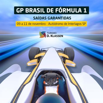 Fórmula 1 é com a Turismo Dklassen!