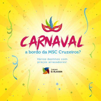 Carnaval em alto mar